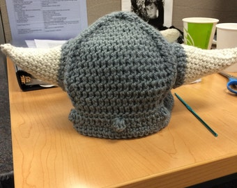 Crochet vikings hat