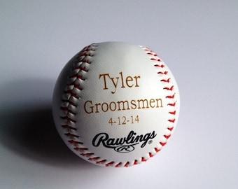 Engraved baseball | Etsy