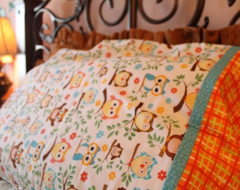 Cu-hoot (Orange) Pillowcase Set