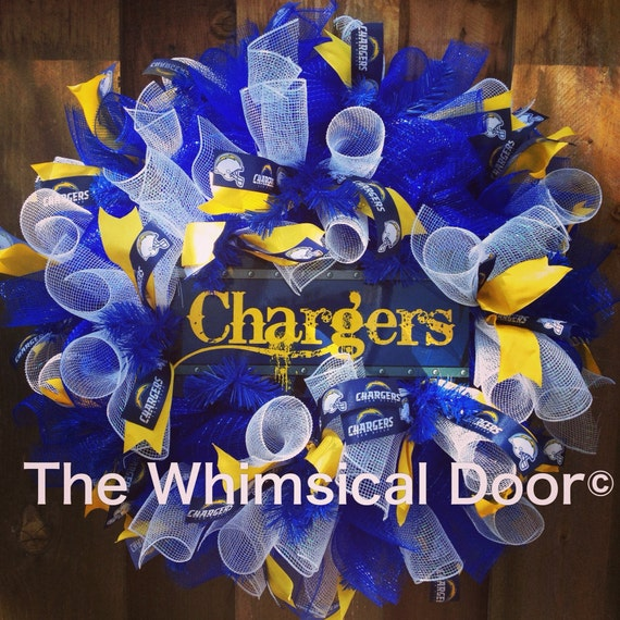 San Diego Chargers Draft: San Diego Chargers Mesh Wreath NFL Football Draft Day