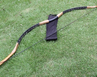 Longbowmaker Chinese traditional hunting bow smooth Black longbow Recurve Archery H1