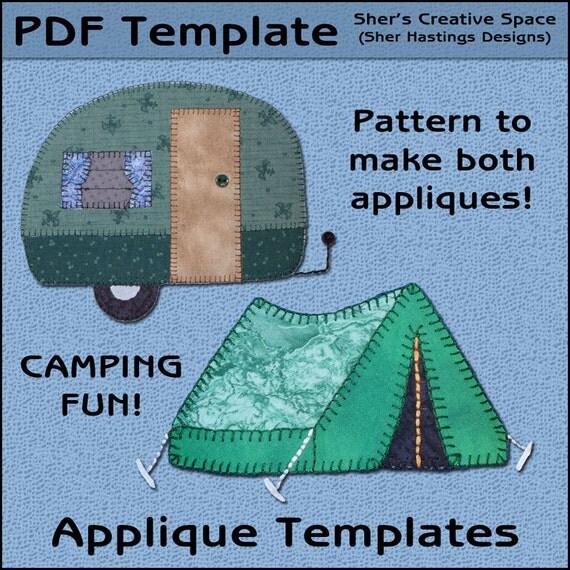 Applique Template Camper Amp Tent Applique Templates Camper