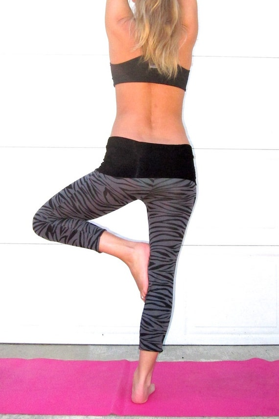 These zebra print yoga pants might be my new favorites