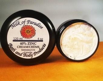 40% Zinc sunscreen - natural full-spectrum sunscreen - high SPF - SPF 40+ - Coconut oil, Zinc sunscreen, sunblock