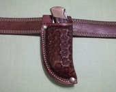 Custom leather knife Sheath  JS112-VT001RT