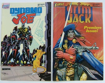 Dynamo Joe issue 1 and Grim Jack issue 1