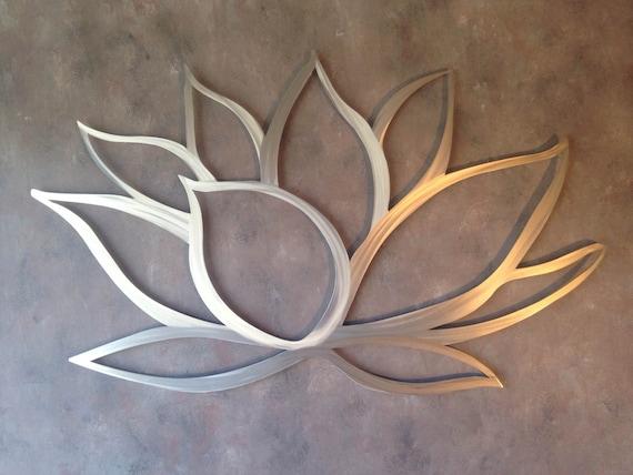 Wall Art Lotus Flower : Lotus flower metal wall art by inspiremetals