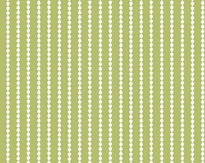 One Yard Oh Clementine - Stripes in Green - Cotton Quilt Fabric - by Allison Harris of Cluck Cluck Sew for Windham Fabrics (W2115)
