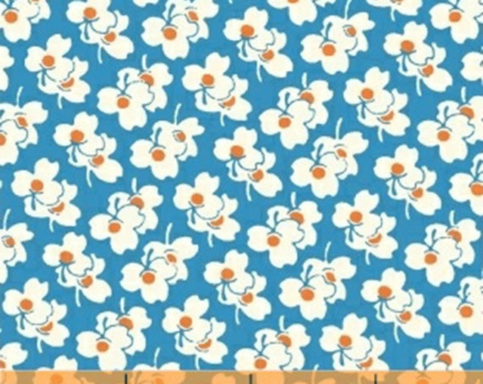 One Yard A is For... - Clover in Blue - Cotton Quilt Fabric - by MY-KT for Windham Fabrics (W2170)
