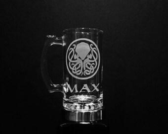 Cthulhu Mug - PERSONALIZED Cthulhu Mug  - Cthulhu Beer Mug - Custom Cthulu Mug - H.P. Lovecraft Mug