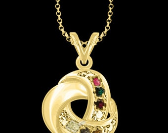 """Love Knot Necklace with 18"""" Link Chain (MP30500-6-SS) gpss"""