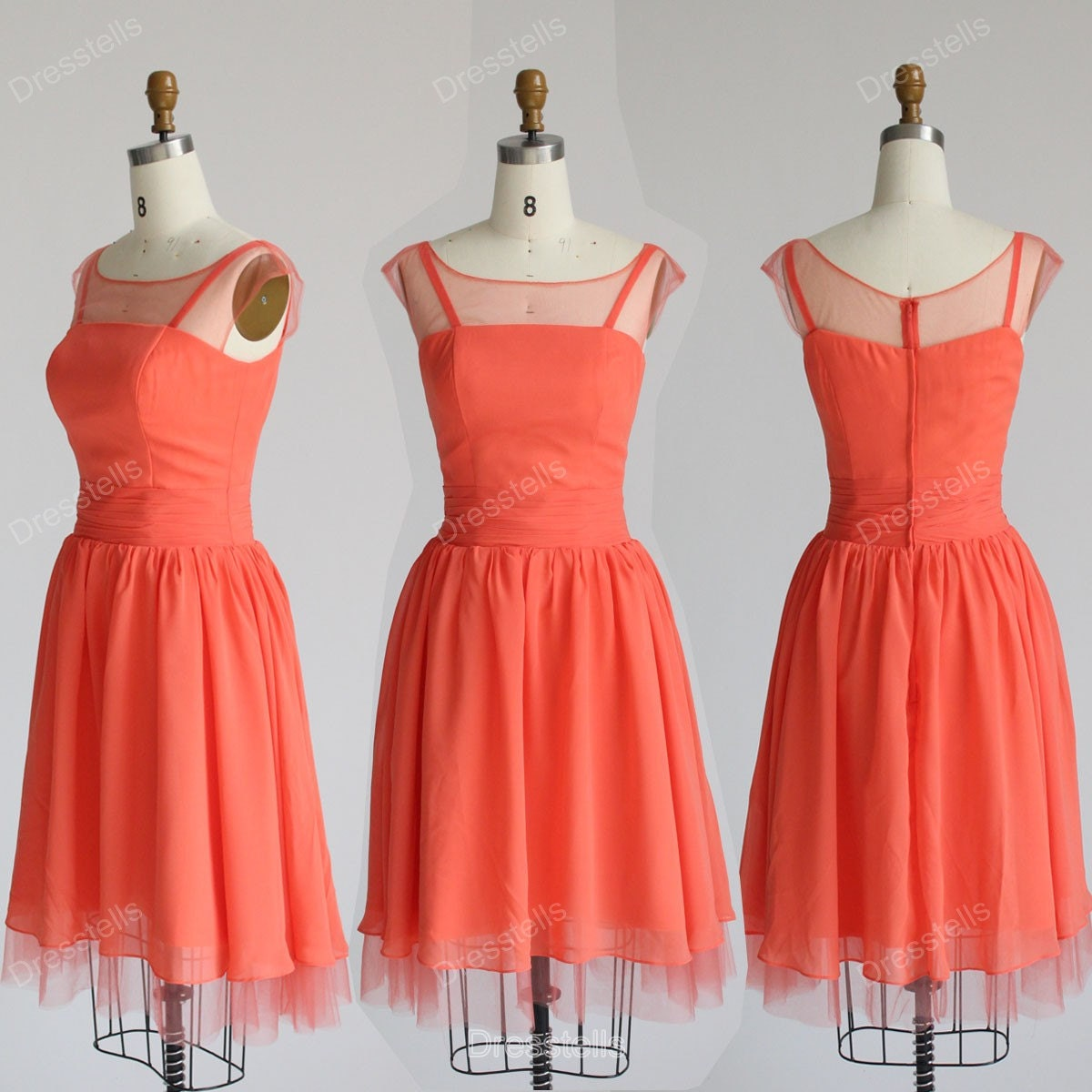 Light Coral Bridesmaid Dresses Viewing Gallery