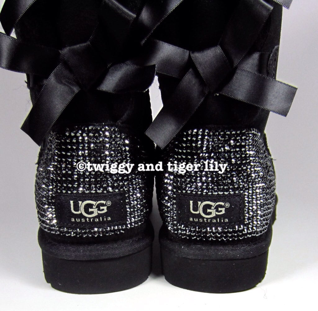 1671bb9ccc740b Ugg Bailey Bow Bling Black