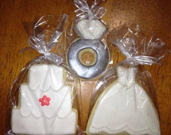 Wedding Cookies, Shower Favors, wedding Dress Cookies, Will you be my bridesmaid?