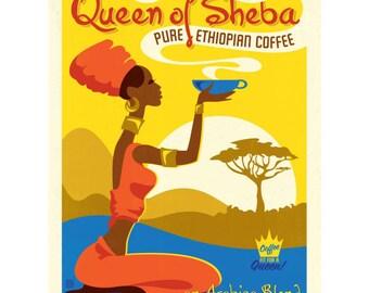 Coffee Queen of Sheba Wall Decal #42274