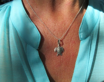 Sterling Silver Sea Turtle Necklace