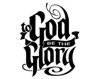 God be The Glory Bumper Sticker - God be The Glory Decal - Christian Glory Decal - Gods Glory Sticker