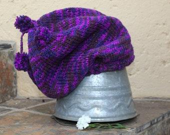 Slouchy beanie , Slouch hat , Slouchy hat , Handmade , Slouch beanie , Slouchy knit hat , Knit hat , Boho hat , Hippie beanie.