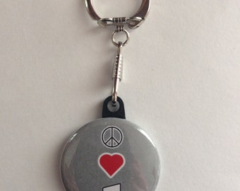 Music Lovers Keychain Handmade Keychain, Music Lover, Headphones, Peace love music, Music