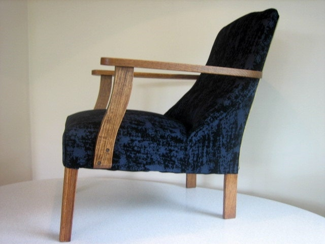 upcycled vintage mid century sitting bedroom chair