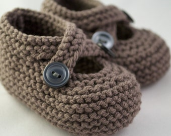 Classic Knit Baby Booties + Choose Your Color