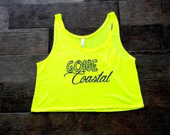 Gone Coastal Yellow Crop Top
