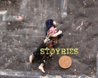 Primitive like half scale doll miniature personalized collectible