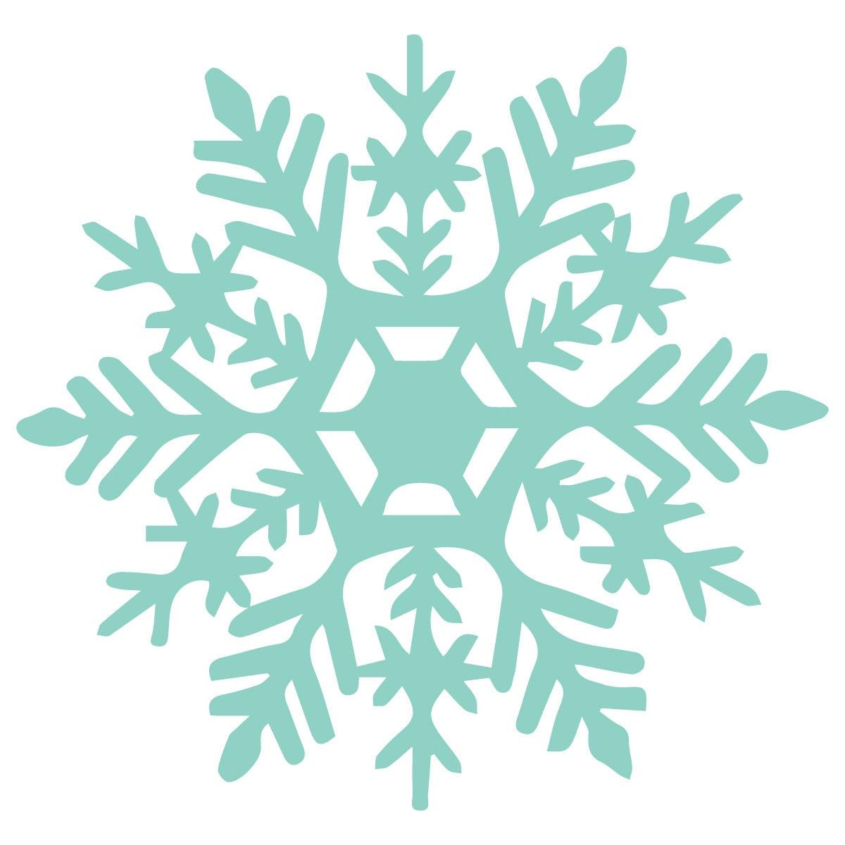 Snowflake Vinyl Decal Design 1 Frozen Party by NipomoImprints