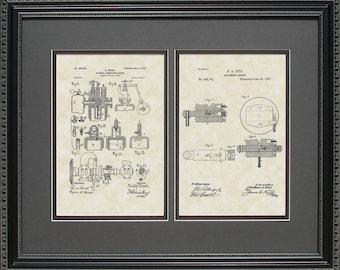 Gas Engine & Diesel Engine Patent Art Mechanic Auto Gift D8845-2