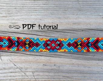Friendship Bracelet Pattern, Friendship Bracelet Tutorial 'Under The Sun', Bracelet Pattern, Friendship Bracelet Tutorial, PDF File