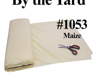 """45"""" Maize Broadcloth Fabric - By The Yard"""
