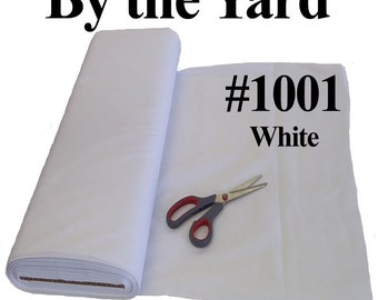 "45"" White Broadcloth Fabric - 20 Yard Bolt"