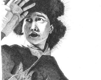Tibetan Woman Portrait Art Print by Daredof