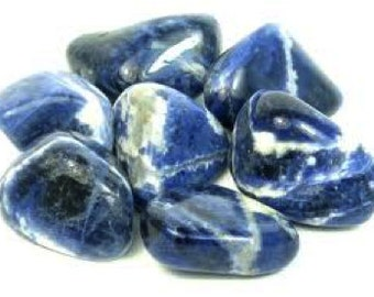 Sodalite Tumbled Gemstone Crystal