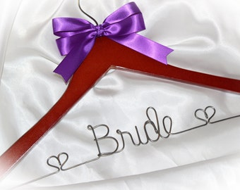 Wedding dress hanger, Gift for bride,  personlized hanger, bridal hanger, wedding hanger, bridal gift, bride gift