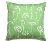 Floral Pillow, 16x16 Pillow Cover, Green Decorative Pillows, Modern, Throw Pillow Covers, Home Decor Pillows, Waverly Simplicity