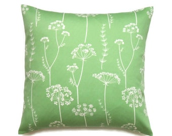 Floral Pillow Covers, 16x16 Pillow Cover, Green Decorative Pillows, Modern, Flower Throw Pillow Covers, Waverly Simplicity