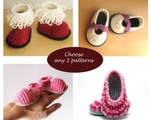 Crochet and Knit Pattern Set - Buy 2 patterns at lower price Combo Deal Discount Package PDF