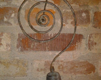 Antique Spring Coil Country Store Entry Door Bell