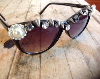 Rhinestone Encrusted Sunglasses