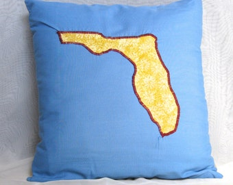 FREE SHIPPING Florida Pillow Cover with Heart - Custom City