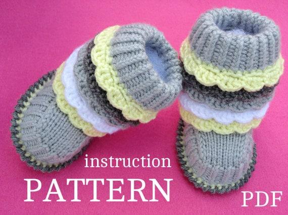 Epipa Knitting Pattern Baby Booties : Crochet PATTERN Baby Knitting Pattern Baby Booties Knitted
