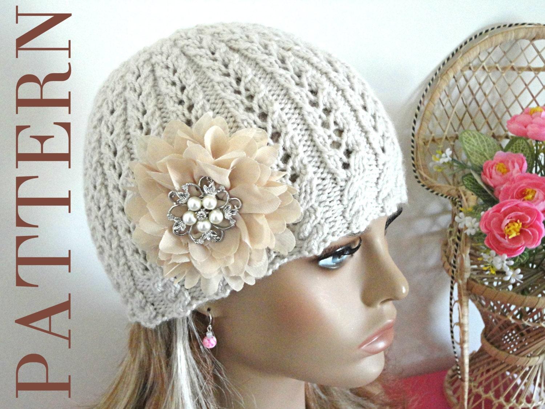 Knitting PATTERN Girls Beanie Women Hat Accessories ...