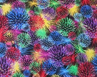 "1/2 yard of 100% cotton ""Fireworks"" fabric"