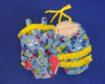 Sale - Bubbles Baby Girl Swimsuit - ONLY 6mo Left