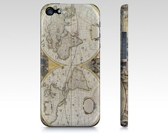 "World Map phone case - iphone8, 8 plus 7, 7 plus, 6 6 plus Samsung Galaxy s5, s6 - ""Antique World "" World Map Phone Cases"