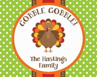 Green Dot Turkey Gift Tag/Calling Card