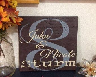 Marriage Wedding Wood Sign