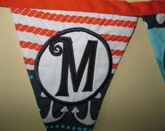 Penant with Ahoy Matey fabrics is custom made