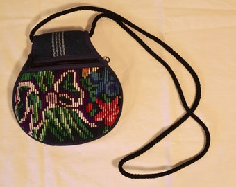 Small Tapestry purse,bag, floral, needle point Purse, shoulder bag